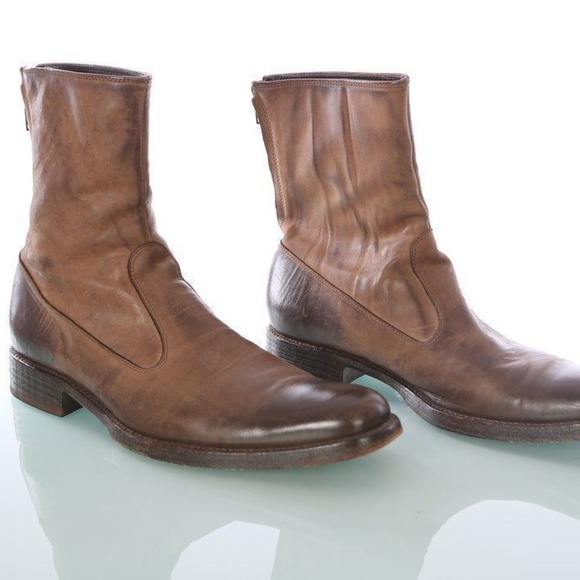 5e665c862460d Doucals Boots Size 40 Mens Brown Semi Distressed